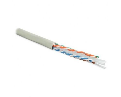 Hyperline UUTP4-C6-S23-IN-PVC-GY-305 (305 м) Кабель витая пара, неэкранированная U/UTP, категория 6, 4 пары (23 AWG), одножильный (solid), с разделителем, PVC, –20°C – +75°C, серый