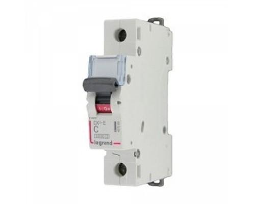 Legrand 407261 Автоматический выключатель DX3-E 6000 - 6 кА - тип характеристики C - 1П - 230/400 В~ - 10 А - 1 модуль