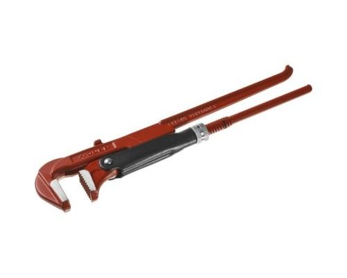 ЗУБР Ключ трубный МАСТЕР рычажный, прямые губки, цельнокованный, № 1, 1 27314-1
