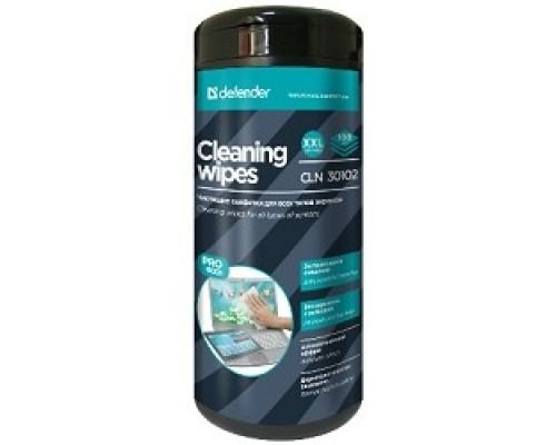 DEFENDER CLN 30102 Влажные чистящие салфетки PRO SERIES в пласт. тубе, 100шт.