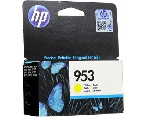 Расходные материалы HP F6U14AE Картридж струйный №953 желтый OJP 8710/8720/8730/8210