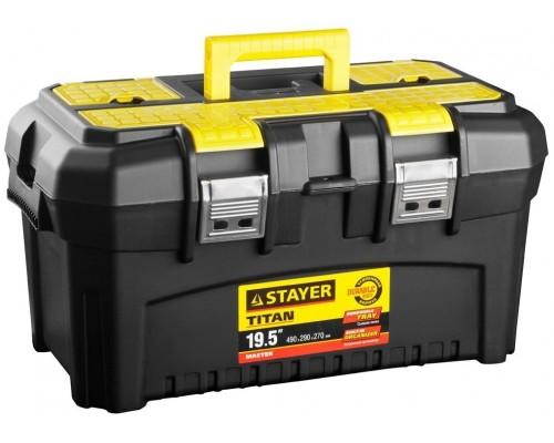 STAYER 38016-19 Ящик для инструмента TITAN-19, пластиковый,