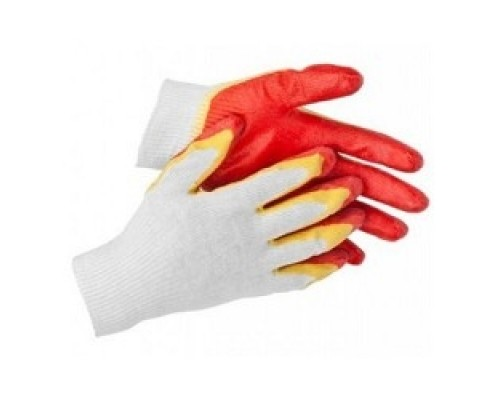 Перчатки STAYER MASTER трикотажные, двойная обливная ладонь из латекса, х/б, 13 класс, L-XL 11409-XL