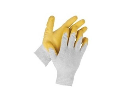 Перчатки STAYER MASTER MaxSafe трикотажные, обливная ладонь из латекса, х/б, 13 класс, L-XL, 10 пар 11408-H10