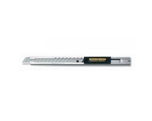 Штукатурно -малярный инструмент Нож OLFA выдвижным лезвием корпусом из нержавеющей стали, автофиксатор, 9мм OL-SVR-2