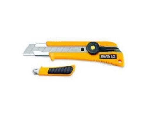 Нож OLFA с выдвижным лезвием эргономичный с резиновыми накладками, 18мм OL-L-2