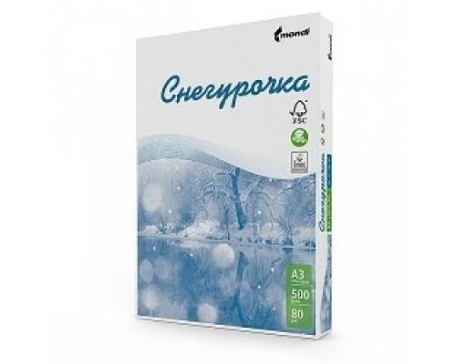 Бумага офисная СНЕГУРОЧКА 96% А4 80г/м 500л (отпускается коробками по 5 пачек в коробке)