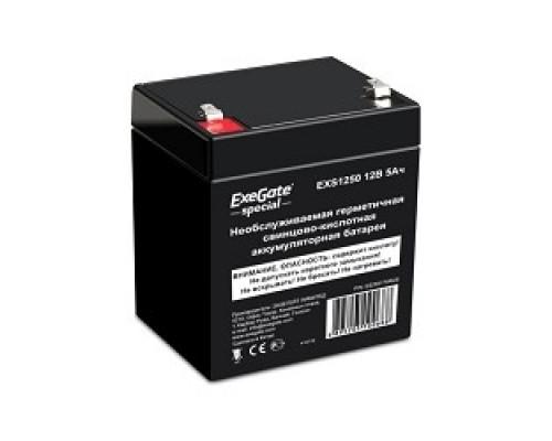 батареи Exegate ES255175RUS Аккумуляторная батарея Special EXS1250, 12В 5Ач, клеммы F1