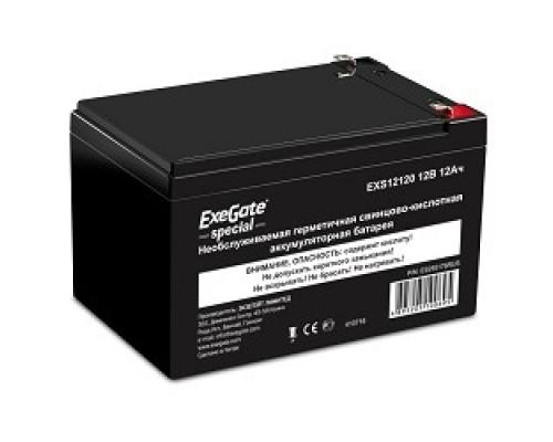 батареи Exegate ES255176RUS Аккумуляторная батарея Special EXS12120, 12В 12Ач, клеммы F1
