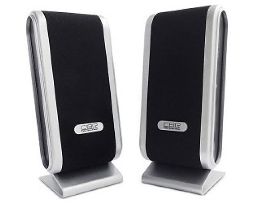 Колонки CBR CMS 299 Black-Silver, 3.0 W*2, USB