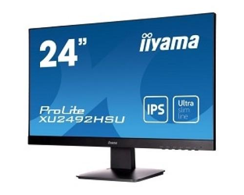 IIYAMA 23.8 XU2492HSU-B1 (A)черный IPS LED 1920x1080 5ms 16:9 250cd 178гр/178гр D-Sub HDMI DisplayPort 2Wx2