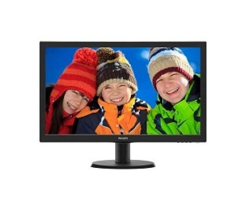 LCD PHILIPS 23.6 243V5QHABA (00/01) черный MVA, LED, 1920x1080, 8 ms, 178°/178°, 250 cd/m, 10M:1, DVI, HDMI, D-Sub 2x2W