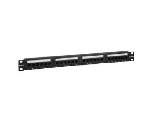 Монтажное оборудование Exegate EX256752RUS Патч-панель UTP 19 24 port кат.5e разъём KRONE&110