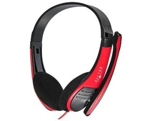 Oklick HS-M150 черный/красный 2м накладные оголовье (NO-003N) 359486