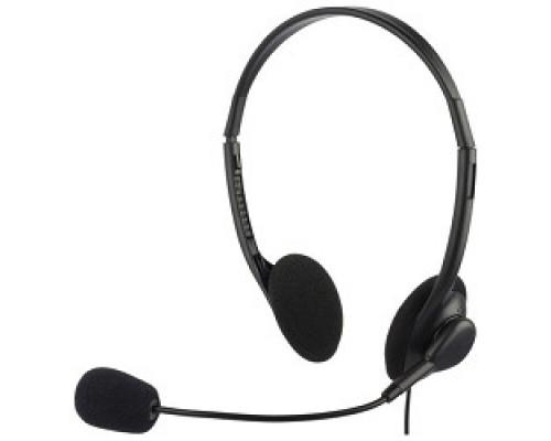 Наушники микрофоны Oklick HS-M143VB черный 1.8м накладные оголовье 614036