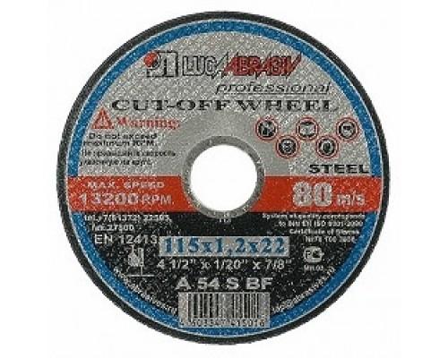 ЛУГА Круг отрезной абразивный Луга по металлу для УШМ, 125х1,0х22,2мм 3612-125-1.0