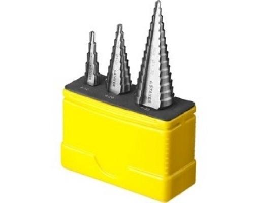 Буры,сверла,долото Набор STAYER MASTER: Ступенчатые по сталям и цвет.мет., сталь HSS, d=4-12мм,5 ступ. 4-20 9 4-30мм 14ступ. 29660-4-30-H3
