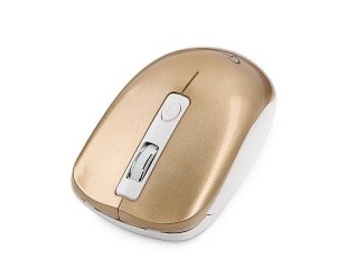 GembirdMUSW-400-G Gold USB беспров.,3кн.+колесо-кнопка,2.4ГГц,1600dpi, бесшумный клик