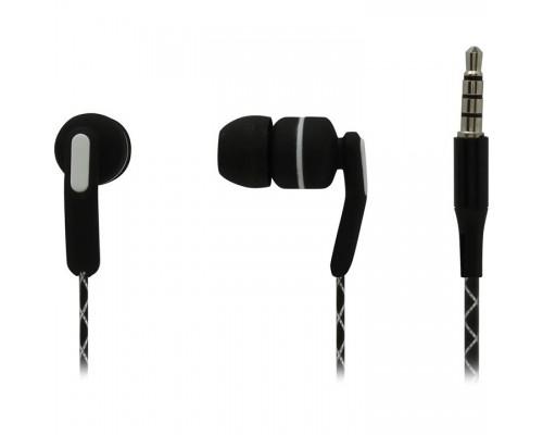 Наушники Гарнитура ES-F15 BLACK Dialog с кнопкой ответа для мобильных устройств, черная