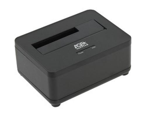 AgeStar 3UBT7 (BLACK) Докстанция 2,5/3,5 SATAIII AgeStar 3UBT7 (BLACK) USB 3.0, пластик, черная