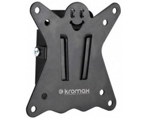Kromax CASPER-100 black, Кр. стал. наст. для TV 10-32, max 25 кг, 0 ст св., от ст. 21 мм, max VESA 100x100 мм.
