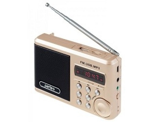 Perfeo мини-аудио Sound Ranger, УКВ+ FM, MP3 (USB/TF), USB-audio, BL-5C 1000mAh, шамп.золот (SV922AU)