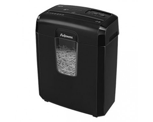 Fellowes Шредер Powershred 8Cd FS-46921 DIN P-4, 4х35мм, 8лст., 14лтр.,уничт.: скобы,скр., пл.карты,CD