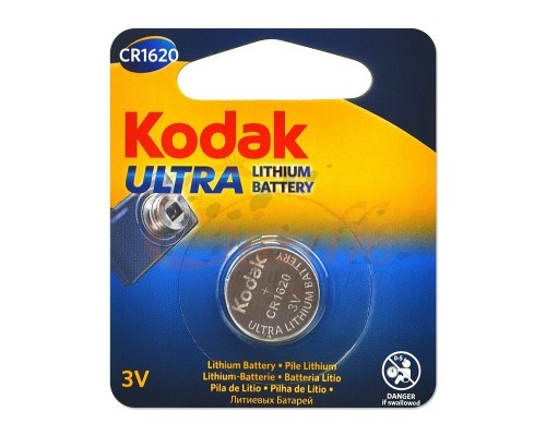 Kodak CR1620-1BL (60/240/12000) ULTRA (MAX Lithium) (1 шт. в уп-ке)