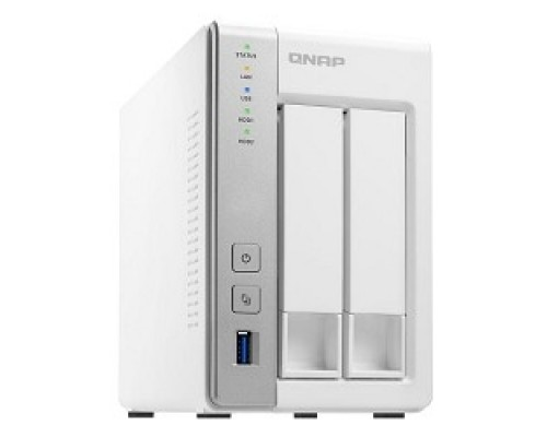 QNAP D2 Сетевое хранилище 2 SATA Hot-swap bay w/o HDD. Dual-core CPU AL-212 1.7GHz, 1GB DDR3 RAM, 2 x GbE