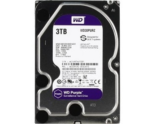 3TB WD Purple (WD30PURZ) Serial ATA III, 5400- rpm, 64Mb, 3.5
