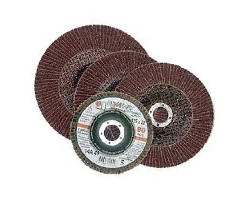 ЛУГА Круг лепестковый торцевой абразивный Луга для шлифования, 125 х 22,23мм, зерно P80