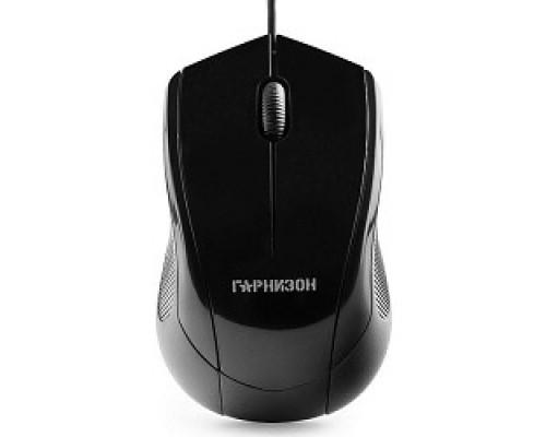 Клавиатуры, мыши Гарнизон Мышь GM-200, USB, чип- Х, черный, 1000 DPI, 2кн.+колесо-кнопка