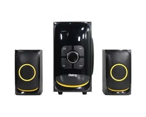 Колонки Dialog Progressive AP-208 BLACK акустические колонки 2.1, 30W+2*15W RMS,Bluetooth,FM,USB+SD reader