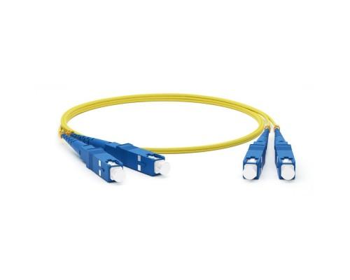 Hyperline FC-D2-9-SC/UR-SC/UR-H-1M-LSZH-YL волоконно-оптический (шнур) SM 9/125 (OS2), SC/UPC-SC/UPC, 2.0 мм, duplex, LSZH, 1 м