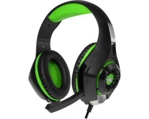 Наушники CROWN CMGH-101T Black&green