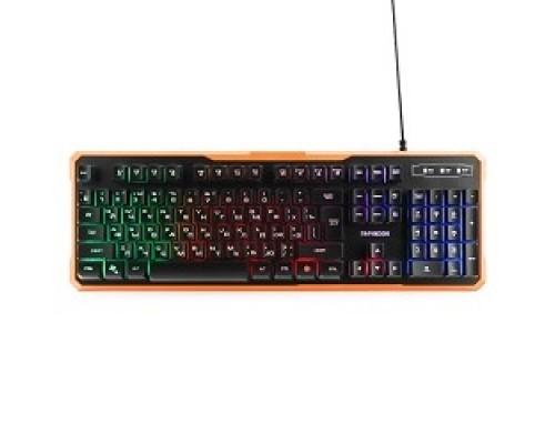Гарнизон Клавиатура игровая GK-320G черный USB, подсветка, код Survarium, антифантомные клавиш