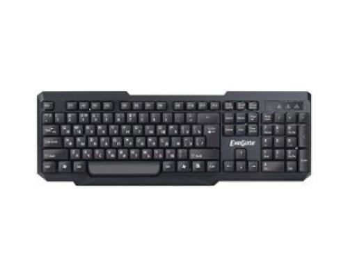 Клавиатуры Exegate EX264084RUS Клавиатура LY-404, <USB, черная, 104кл, Enter большой> Color box
