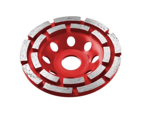 Шлифовальная бумага, лента, круги Чашка алмазная шлифовальная по бетону ЗУБР МАСТЕР сегментная двухрядная, 125мм 33376-125
