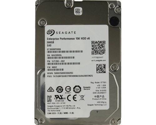 Жесткий диск 300Gb Seagate Enterprise Performance 15K