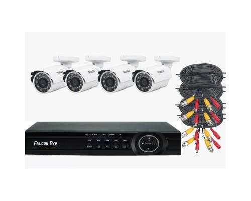 Цифровые камеры Falcon Eye FE-104MHD KIT ДАЧА SMART Комплект видеонаблюдения. Гибридный регистратор поддержкой AHD/TVI/CVI/IP/Аналог. Алгоритм сжатия H.264,Запись 1080N/100 кад./сек