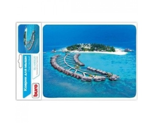 Коврики для мыши Buro BU-M10020 рисунок/тропический отель 291841