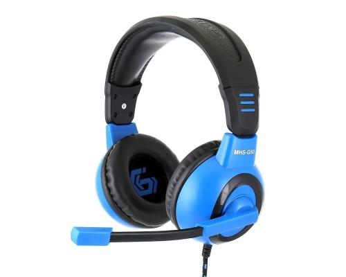 Gembird MHS-G50, код Survarium, черн/син, рег. громкости, откл. мик, кабель 2.5м