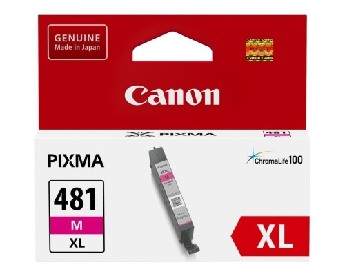 Расходные материалы Canon CLI-481XL M 2045C001 Картридж для PIXMA TS6140/TS8140TS/TS9140/TR7540/TR8540, 466 стр. пурпурный