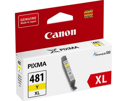 Расходные материалы Canon CLI-481XL Y 2046C001 Картридж для PIXMA TS6140/TS8140TS/TS9140/TR7540/TR8540, 519 стр. жёлтый