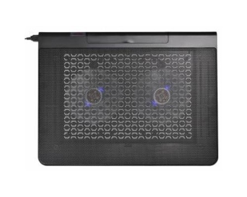 BURO Подставка для ноутбука 17398x300x29mm 2xUSB 2x 140mmFAN 926г металлическая сетка/пластик черный (BU-LCP170-B214)