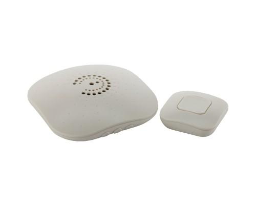 ЭРА Б0018090 Звонок беспроводной BIONIC Ivory 6 мелодий, регулятор громкости, радиус 100м, кнопка IP44
