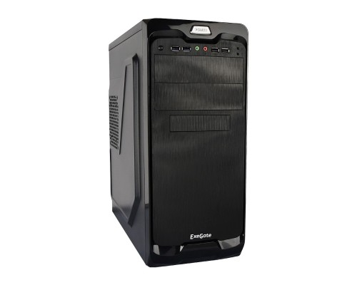 Exegate EX269435RUS Корпус Miditower UN-604 Black, ATX, <UN350, 120mm> 2*USB+2*USB3.0, Audio