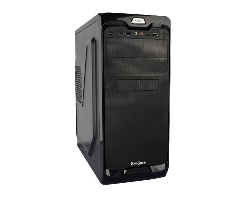 Exegate EX269436RUS Корпус Miditower UN-604 Black, ATX, <UN400, 120mm> 2*USB+2*USB3.0, Audio