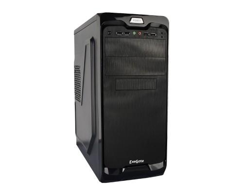 Exegate EX269437RUS Корпус Miditower UN-604 Black, ATX, <UN450, 120mm> 2*USB+2*USB3.0, Audio