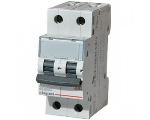 Legrand 404044 Автоматический выключатель TX3 6000 - 6 кА - тип характеристики C - 2П - 230/400 В~ - 25 А - 2 модуля
